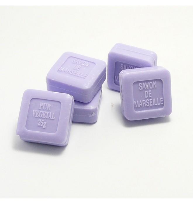 Marseillské přírodní mýdlo levandule - 25g čtvereček