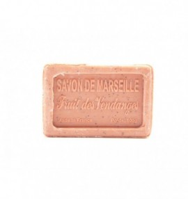 Marseillské přírodní mýdlo - 100 g -vinná réva - balené v celofánu