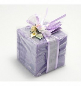 Dárkově balené marseillské mýdlo -kostka -300g -levandule