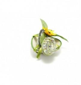 Dárkově balené marseillské mýdlo 25g ve tvaru srdce na keramické mýdlence ve tvaru srdce-25g -oliva