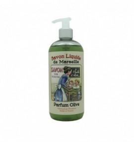 Francouzské luxusní marseillské tekuté mýdlo - 500 ml - oliva - Učitelka - s dávkovačem
