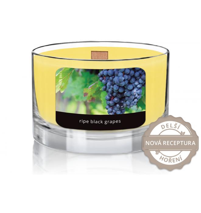 svíčka Wood Wick Ripe Black Grapes