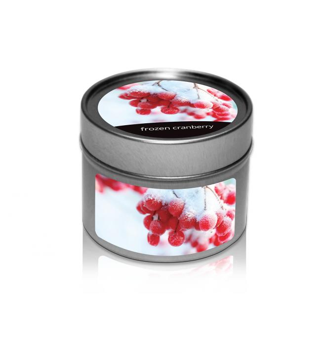 svíčka v plechovce Frozen Cranberry