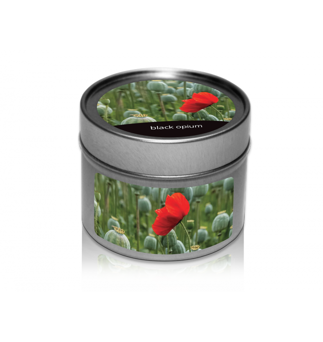 svíčka v plechovce Black Opium