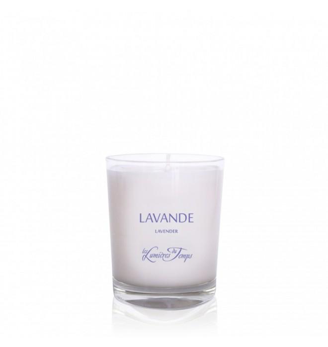 Francouzská luxusní přírodní ručně odlévaná vonná svíčka - 90 g - levandule