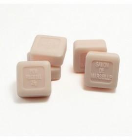 Marsellské přírodní mýdlo růže -25 g čtvereček