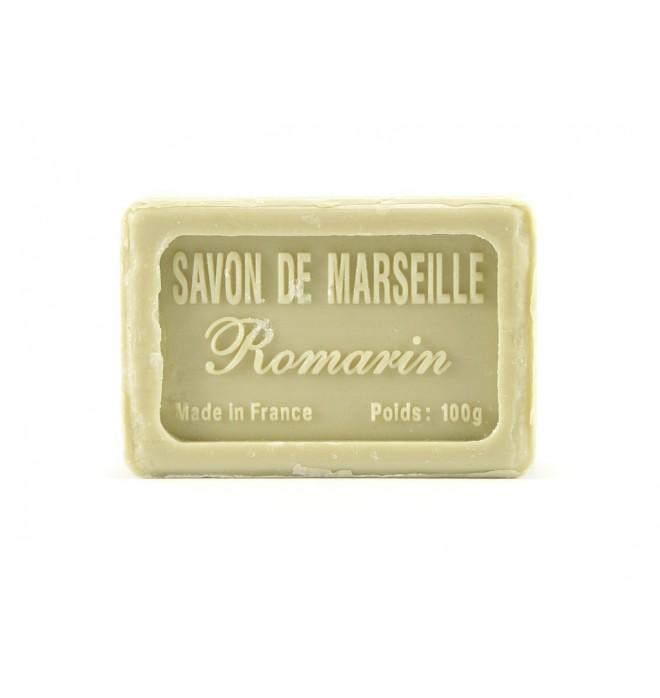 Marseillské přírodní mýdlo - 100 g- rozmarýn - balené v celofánu