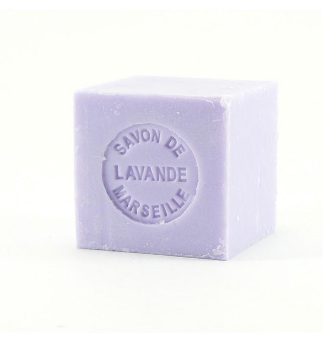 Dárkově balené marseillské mýdlo - 100g - kostka- levandule