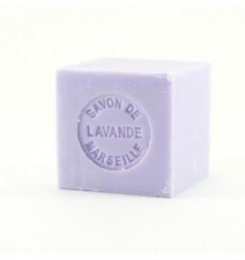 Marseillské přírodní mýdlo - 100 g kostka -levandule - balené v celofánu