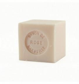 Marseillské přírodní mýdlo - 100 g kostka -růže - balené v celofánu