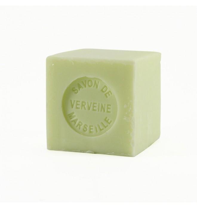 Marseillské přírodní mýdlo - 100 g kostka -verbena - balené v celofánu
