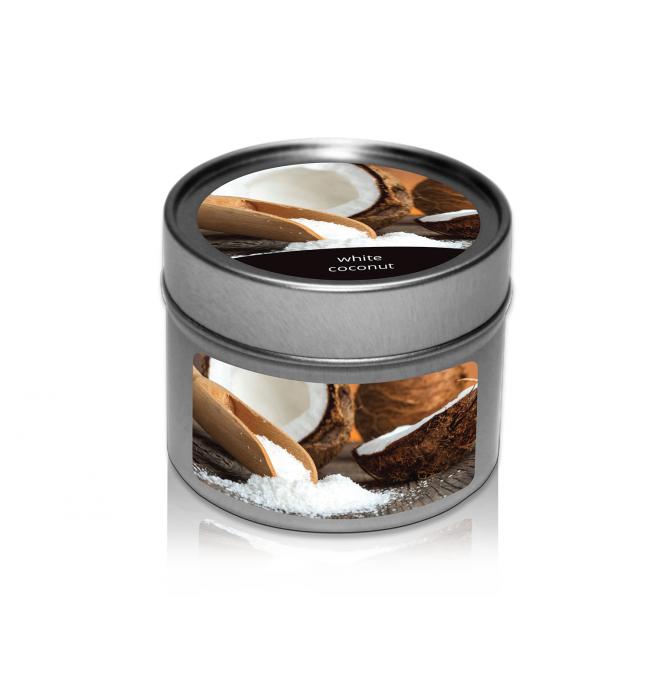 svíčka v plechovce White Coconut